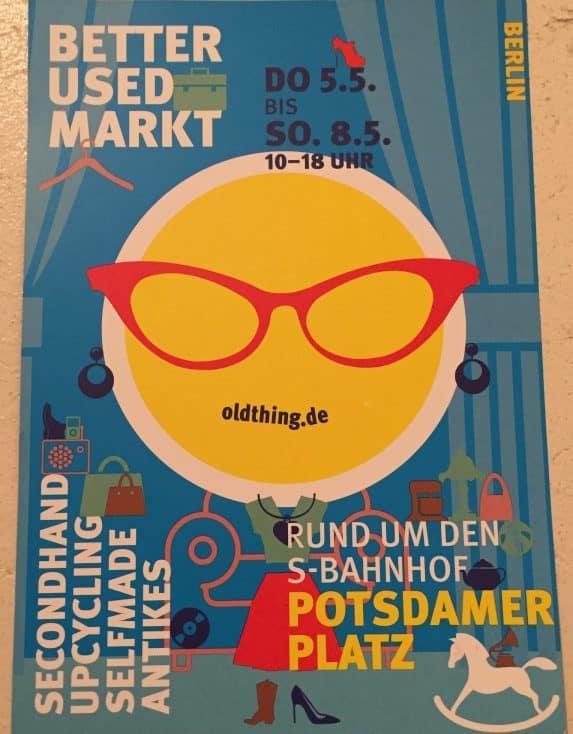 Der Better Used Market am Potsdamer Platz präsentiert Produkte rund um die Themen Vintage, Second Hand und Upcycling.