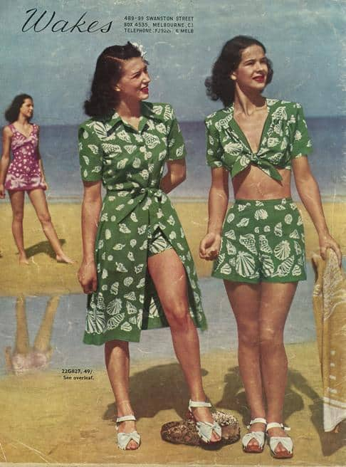 40s tropical Croptop