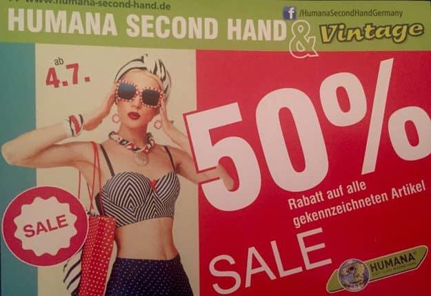 Humana Second Hand & Vintage - 50% SALE Schlussverkauf