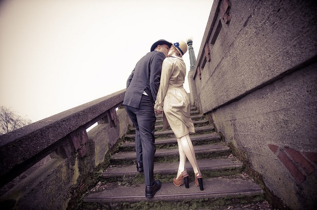 Alix & Nick's WWII era 1940s elopement