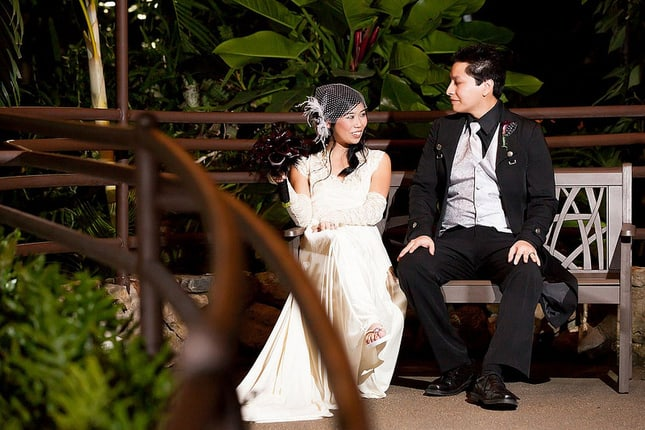 Keli & James' video games comedy and butterflies wedding