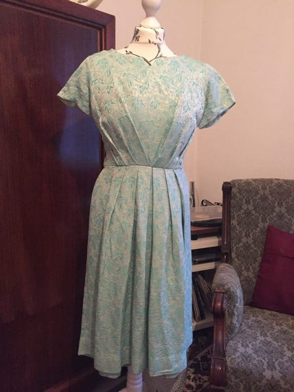 Vintage 60s dress mint green