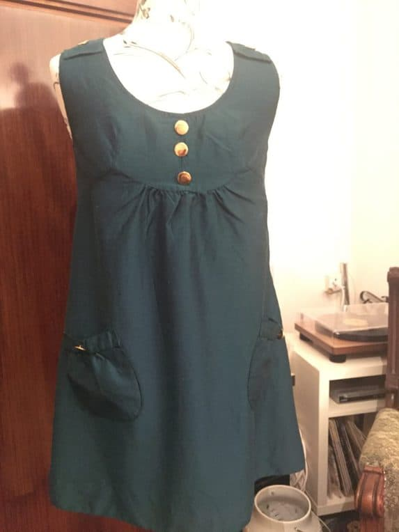 70s short dress with pockets
