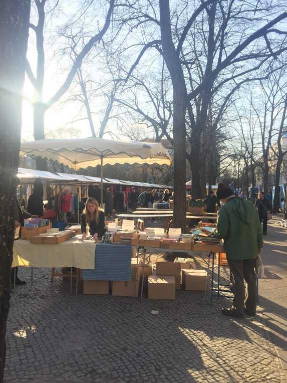 Sonntags Flohmarkt am Boxhagener Platz, Berlin