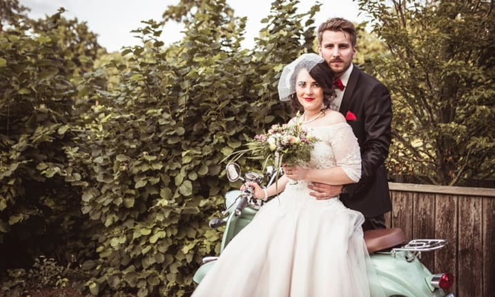 50er-Jahre Hochzeit mit besonderem Charme