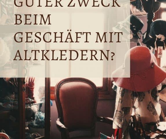 Guter Zweck oder nur gutes Geschäft? Humana Secondhand & Vintage Kritik an Altkleidersammlung. Secondhand-Shops mit humanitärem Hintergrund fragwürdig.