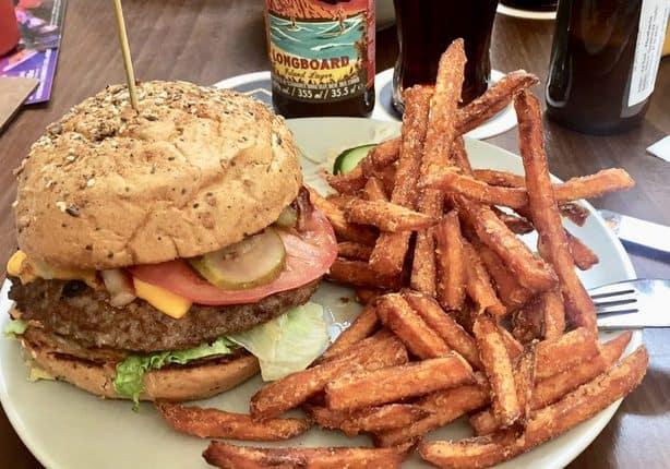 Kahuna BBQ Burger at Waikiki Burger Diner in Potsdam.