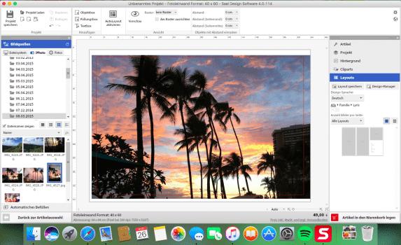 SaalDigital DesignSoftware für Fotoprodukte/Wandbild