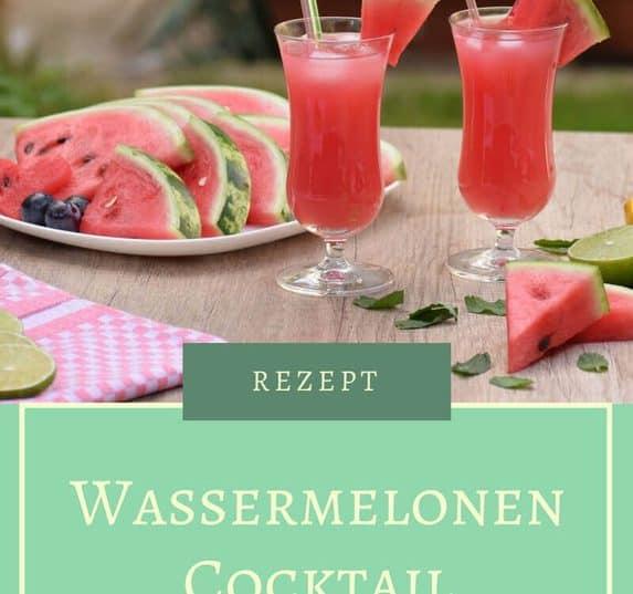 Wassermelone ist der perfekte Begleiter für heiße Tage. Als Sommer-Party Drink ist der Wassermelone Cocktail alkoholfrei oder als Cocktail mit Wodka ideal.