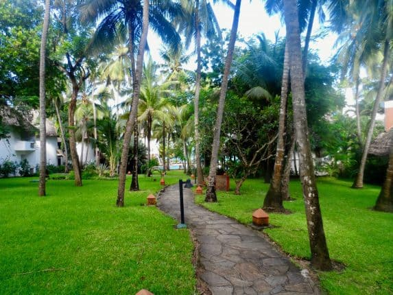 Die Hotelanlage der Severin Sea Lodge, Kenia