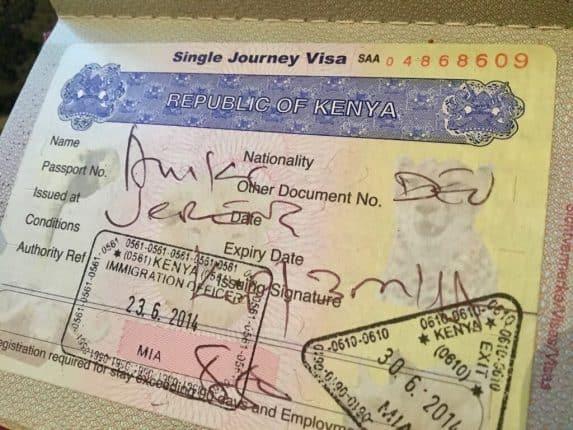 Visum für Kenia