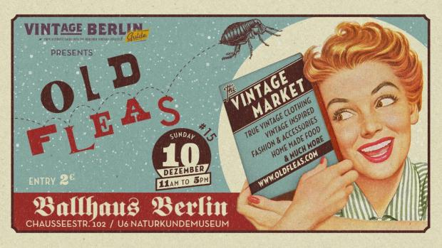 Old Fleas Vintage Market Banner December 2017
