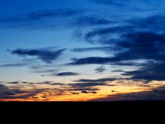Abendrot - Sonnenuntergang auf dem Land