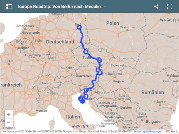Auf unserem Europa Roadtrip werden wir unterwegs mit dem Auto nach Kroatien fünf Länder durchqueren und acht Städte besichtigen in 11 Tagen. Ein Europa Roadtrip mit vielen spannenden Stationen. Von Berlin über Prag, Brünn, Wien und Ljubljana bis nach nach Kroatien. Unsere Reise nach Kroatien zum Tear It Up Festival.