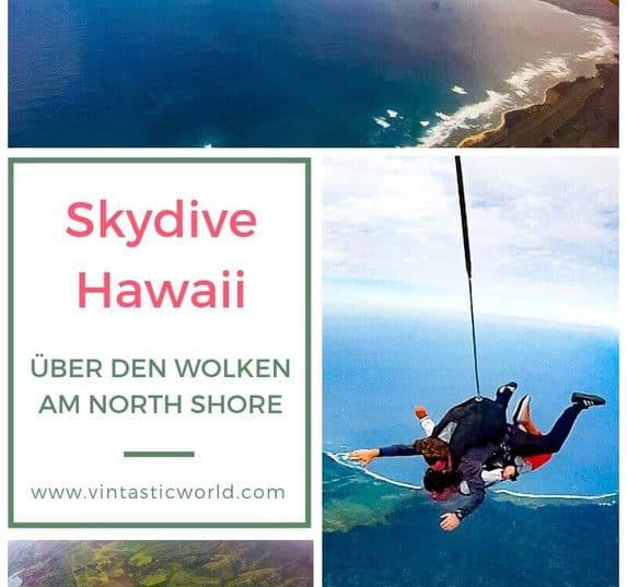 Eine besondere Hawaii Attraktion ist das Skydiving am North Shore, Oahu, Hawaii. Ein erfahrungsbericht zum Tandemsprung mit Skydive Hawaii. Hawaii Tipps.