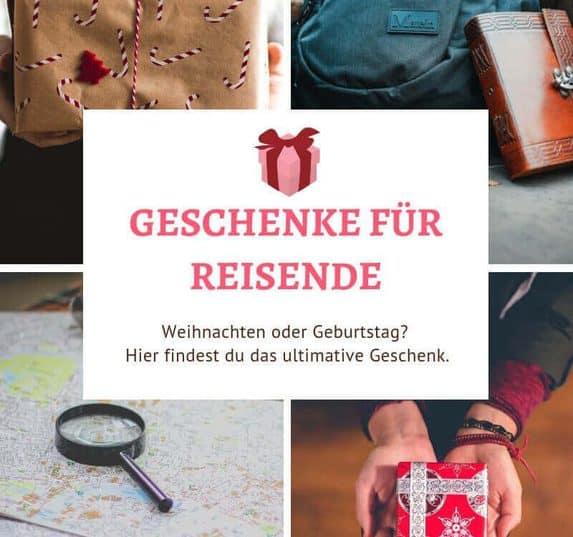 Weihnachtsgeschenk, Geburtstagsgeschenk oder Abschiedsgeschenk vor der Weltreise? Hier findest du viele tolle Reise Gadgets und Geschenke für Reisende.