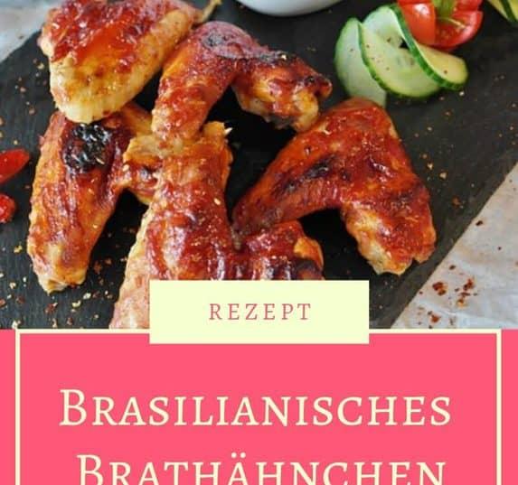 """Rezept für Brasilianisches Brathähnchen """"Frango a Passarinho"""". Ein traditioneller brasilianischer Snack. Brasilianisches Essen zum Nachkochen. Party-Snack."""