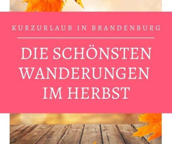 Kurzurlaub Brandenburg. Wandern in Brandenburg im Herbst.